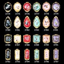 NEW Hot nail jewelry gold frame nails art decor 200 pcs shell design gems center 3d decorations accessories supplies