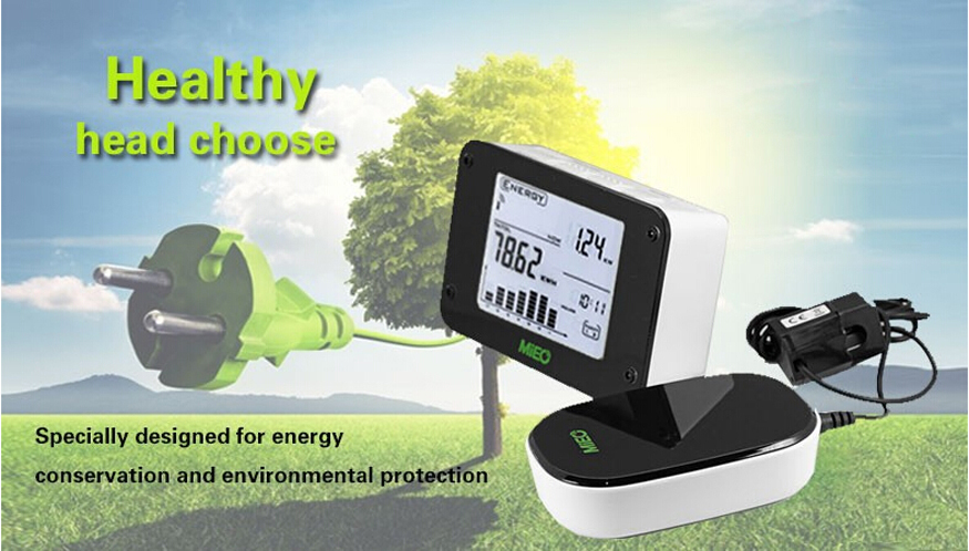 HA102 Wireless Energy Monitor CO2 emission Power Consumption Environment Protection Save10% Electricity Bill With CT2