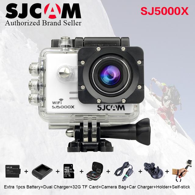 Orignal SJCAM SJ 5000 X sj5000x Elite WiFi 4 K 24fps 2K30fps giroscópio NTK96660 Mergulho 30 m À Prova D' Água Ação Esportes DV 2.0 LCD Da Câmera