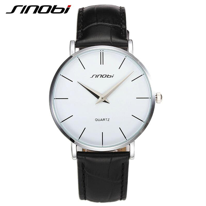 SINOBI Fashion Brand ultra slim Classic Casual Quartz watches Men Busness JAPAN Leather Analog Relogio Masculino wristwatches children s early childhood educational toys the bear change clothes play toys creative wooden jigsaw puzzle girls toys
