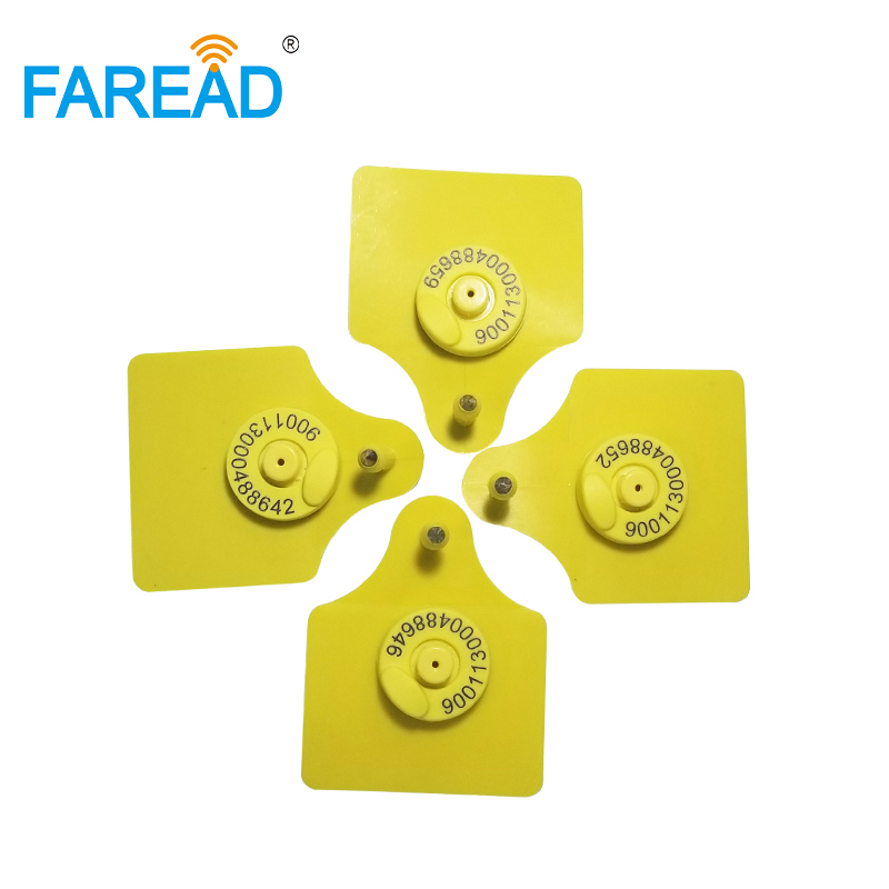 Best Quality X100pairs RFID EID Ear Tag, Sheep Cow Pig For Animal Identification Visual Tag FDX-B