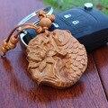 Новая мода деревянный Брелок животных рыба резные классический Автомобиль брелок кулон Брелок