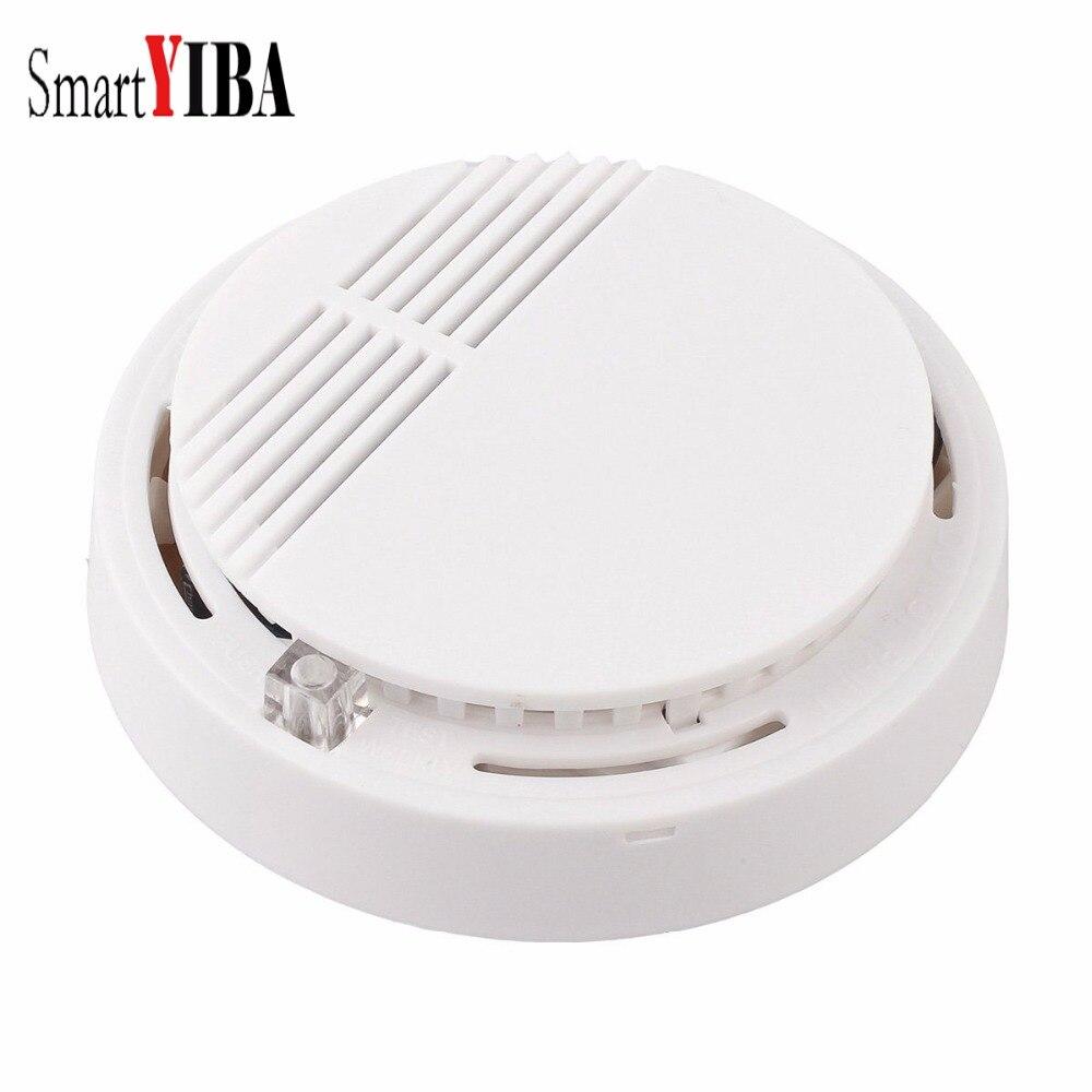 цена на SmartYIBA Household Smoke Detector/Sensor 85 db Battery Operated Smoke Fire Alarm System Photoelectric Sensor for Home Security