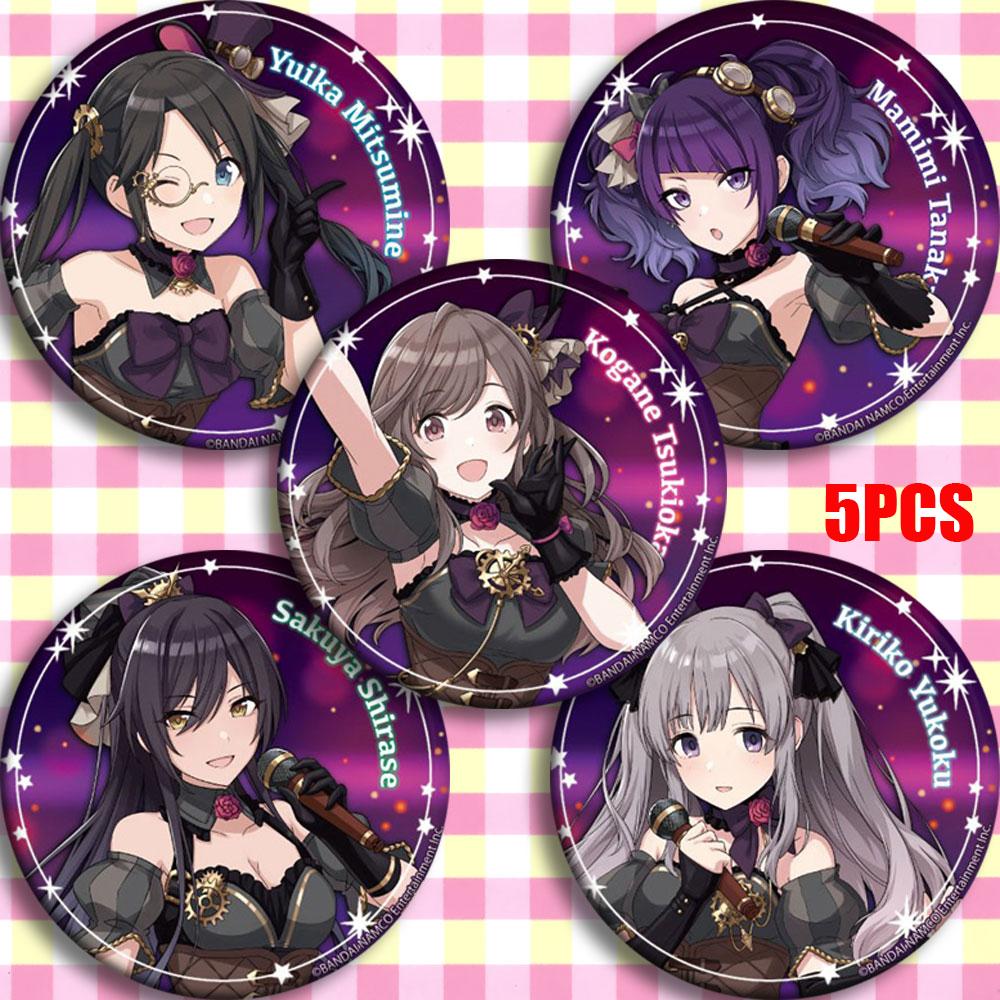 Anime IDOLM@STER The Idolmaster SHINY COLORS SIDEM WORLD Cosplay Bedge Cartoon Collect Bag Badges For Backpack Button Brooch Pin