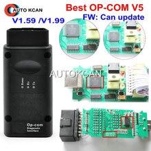 Горячая V5 PCB FW V1.59 или FW V1.99 op com v1.99 с PIC18F458 CAN BUS OBD2 OP-COM V5 OPCOM диагностический инструмент