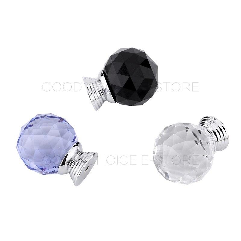 купить 8pcs/Lot High Quality Crystal Glass Drawer Cabinet Cupboard Door Knob Furniture Handle Diamond Surface Black/Transparent/Blue онлайн