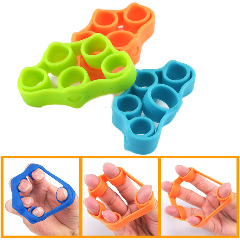 Galleria fotografica Fitness Strength Trainer Silicone Gripper Ring Hand Exercises Wrist Stretcher Yoga Resistance bands Finger Expander