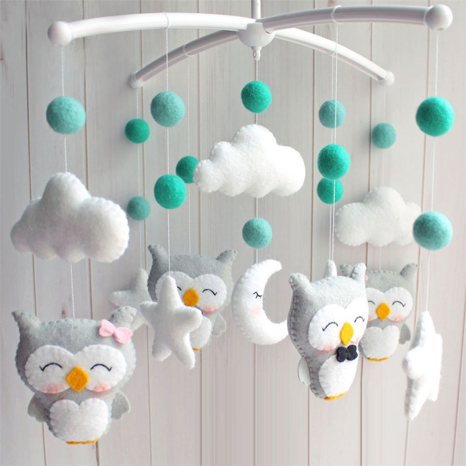 Baby Rattles Sewing Completed Toys For Baby Bracket Newborn Crib Bed Bell Holder Arm Wind-Up Muziek Mobile Music Bebek Oyuncak