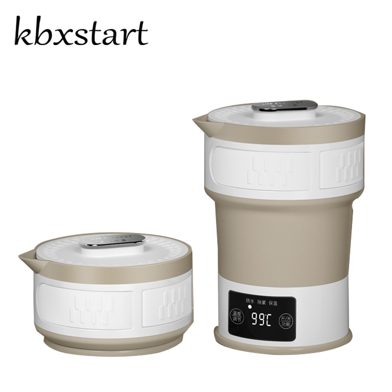 Kbxstart Electric Mini Smart Folding Kettle Food Safety Foldable Chaleira Travel Camping Portable Water Boiler With Cup 110-220V цена и фото