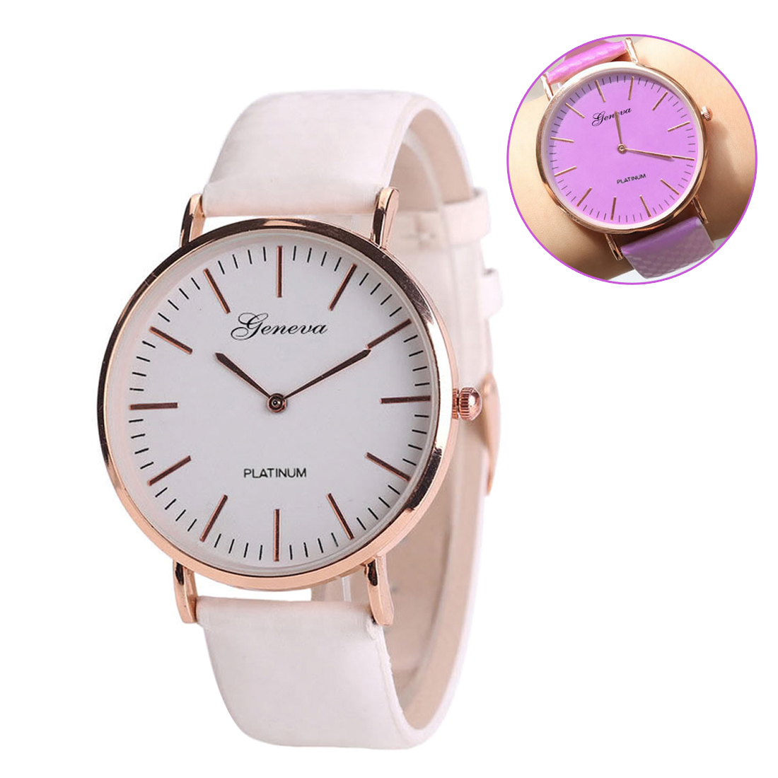 Purple Women Quartz Watches Leather Relogio Feminino Wristwatches New Fashion Watch Simple Style Female Clock Gift Elegant Hour rigardu fashion female wrist watch lovers gift leather band alloy case wristwatch women lady quartz watch relogio feminino 25