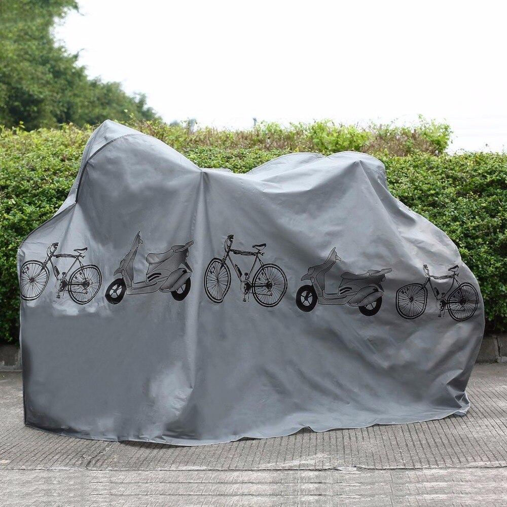 Protector UV cubierta a prueba de polvo bicicleta lluvia cubierta de polvo a prueba de agua al aire libre gris para bicicleta ciclismo envío libre