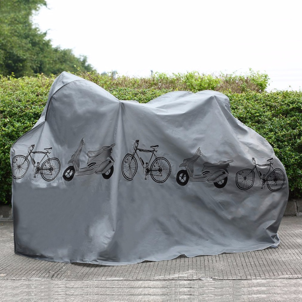 UV protector cover dustproof Bike Rain Dust Cover Waterproof Outdoor Gray For Bike Bicycle Cycling free shipping outdoor cycling bike neoprene chain stay protector guard cover chain guards bike cover dustproof bicycle accessory