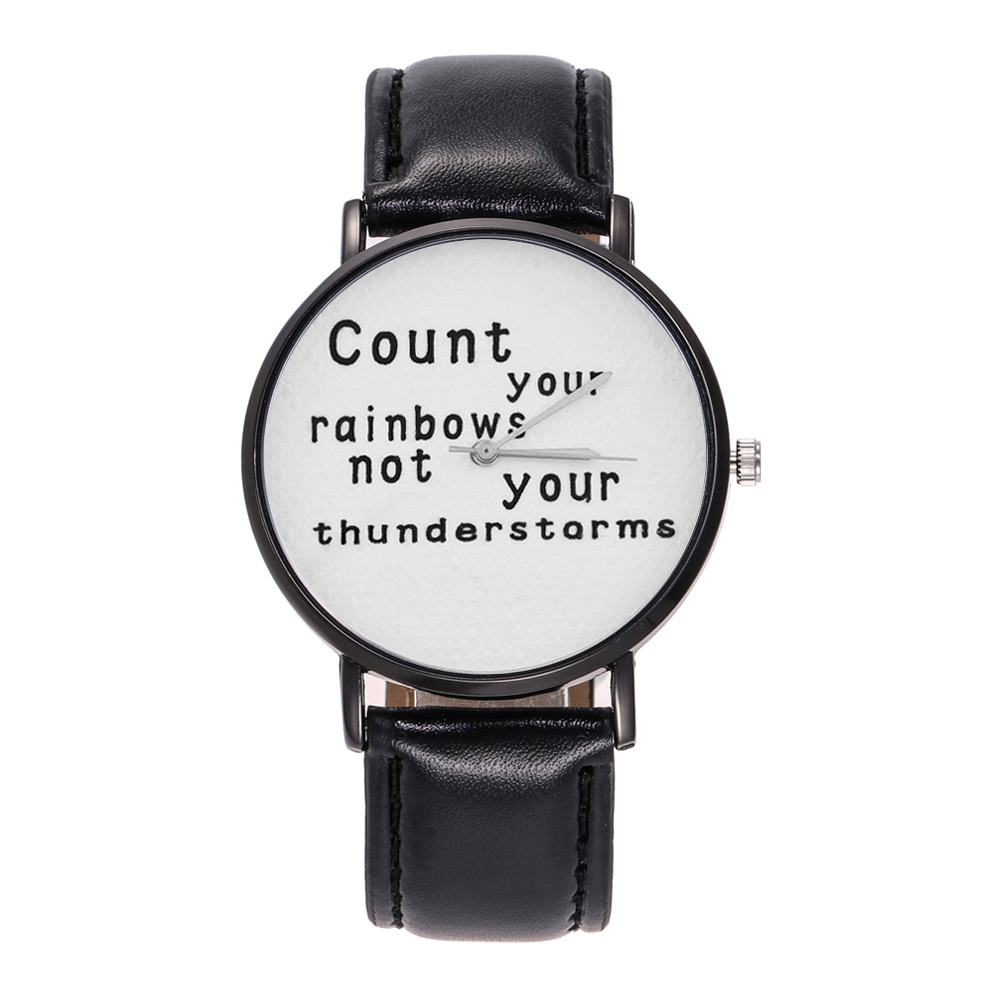 Count Your Rainbows Not Your Thunder Analog Quartz Round Watch