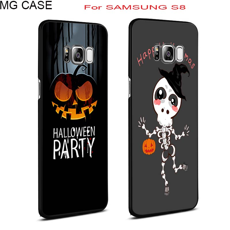 Funny Halloween Pumpkin Skull Head Hero Phone Cases Hard PC Cover Shell Bag For Samsung Galaxy Note8 S6 S6edge S7edge S8 S8Plus