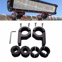 Triclicks Black Aluminum Mounting Brackets LED Light Bar Mount Bracket Tube Clamps With Screw For Offroad Truck Boat Trailer SUV