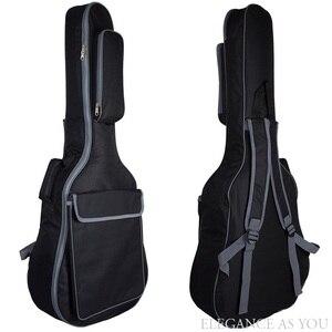 Image 5 - 무료 배송 41 인치 어쿠스틱 기타 가방 36 인치 여행 기타 케이스 43 인치 포크 기타 가방 커버 42 인치 더블 스트랩 기타 상자