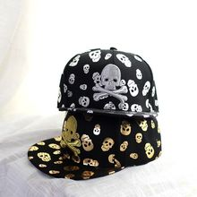 2016 Male bone Baseball Cap Fashion High Quality Gold Silver Embroidery Skull Gorras Planas Hip Hop Women Snapback Caps Summer