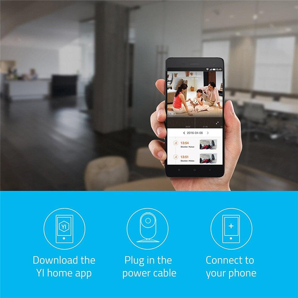 YI 720P Home Camera 2pcs Security Cam Night Vision WIFI Cam IP/Wireless Network Surveillance Owl Internation Version YI Cloud