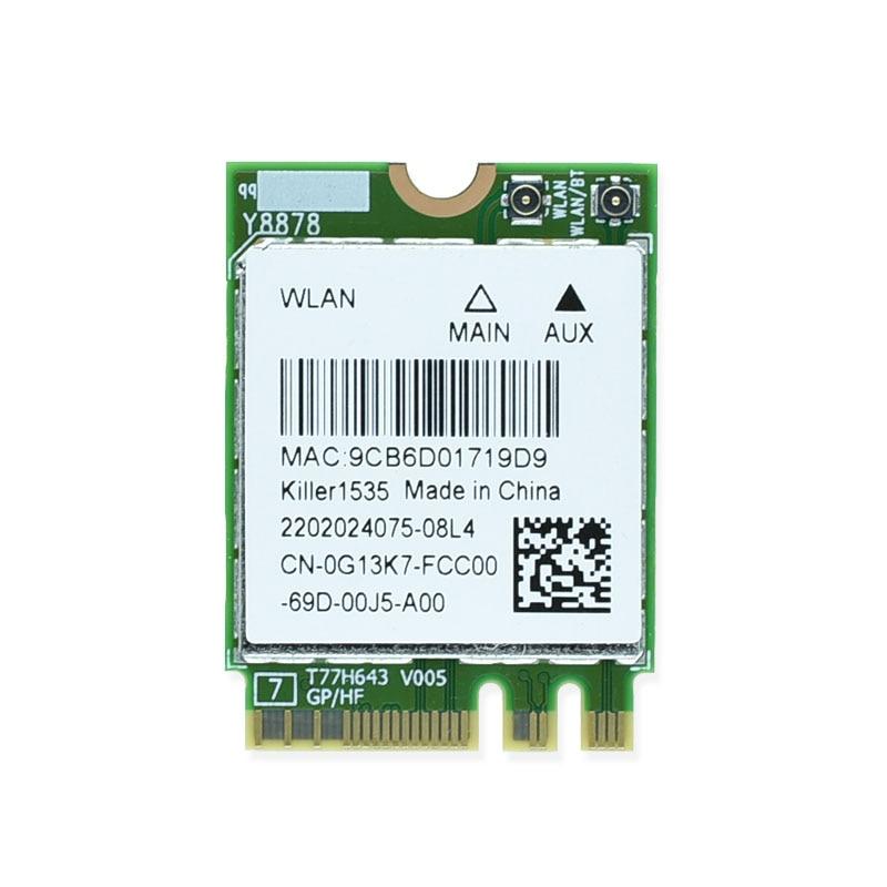 Brand New Killer 1535 867Mbps Killer1535 Bluetooth 4.1 NGFF M.2 WiFi Network Card For GE72/GT72/GT80/GS60/GE62P651SE/SG/P650S/T5