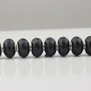 Image 3 - פיאות שחור טבעי קסמי חרוז אותנטי 925 כסף סטרלינג Fit אירופאי סגולה צמידי אופנה חרוזים להכנת תכשיטים