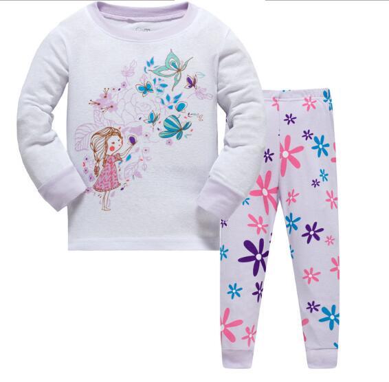 New Children Baby Kids Girls Boys Long Sleeve Nightwear Pajamas Set Sleepwear Suit 0 4Y Wholesale