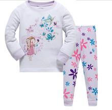 New Children Baby Kids Girls Boys Long Sleeve Nightwear Pajamas Set Sleepwear Suit 0-4Y Wholesale for children pijamas suits