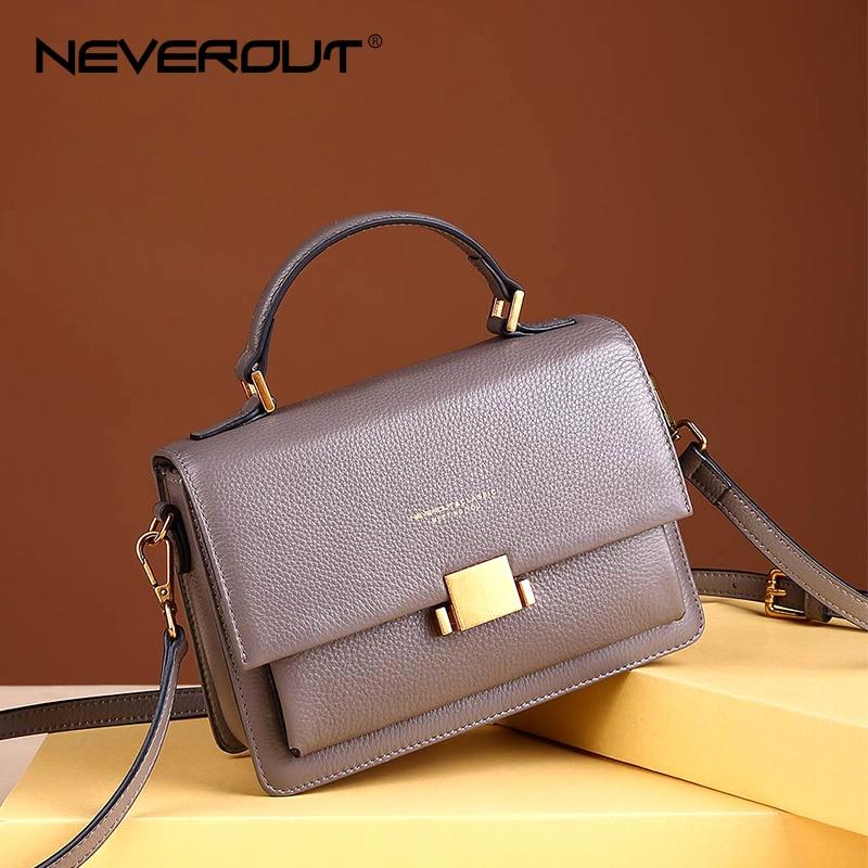NEVEROUT High Quality Genuine Leather Shoulder Sac Soft Crossbody Bag  Luxury Handbags Women Bags Designer Elegant 17f5a79982