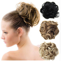 Hot Sale 1PC Buy Hair Bun Chignon Extension Hairpieces 80 g Women Big Hair Bride Bun Curly Clip In Comb Hair Buns Free shipping