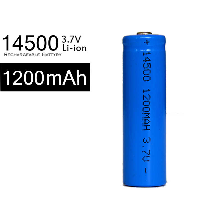 10Pcs/lot Li ion AA Battery 1200mah 3.7v 14500 Rechargeable Lithium Batteries For Flashlight Freeshipping