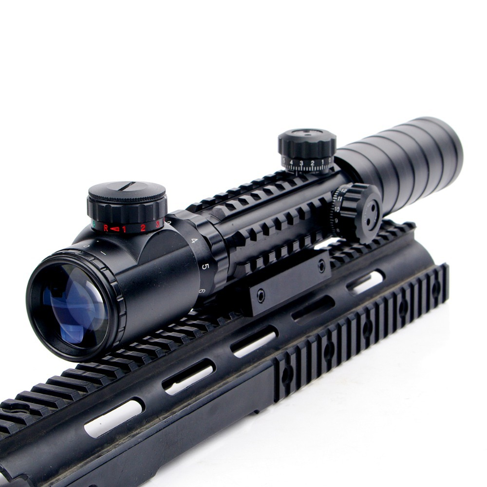 Nuevo 3-9x32EG Riflescope Rojo y verde Iluminado Telémetro Retículo - Caza - foto 6