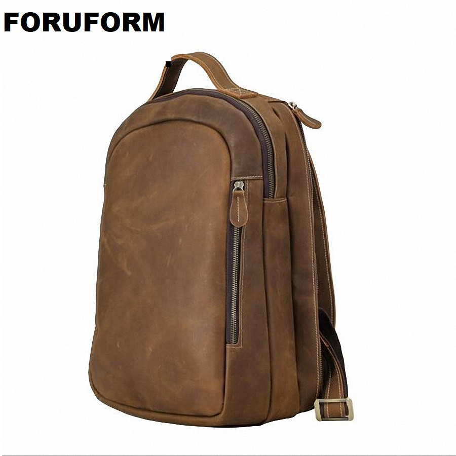 Quality Genuine Leather Men Backpackcrazy Horse Leather Backpack Rucksack Men Travel Bag Leather Luggage Bag LI-1825Quality Genuine Leather Men Backpackcrazy Horse Leather Backpack Rucksack Men Travel Bag Leather Luggage Bag LI-1825