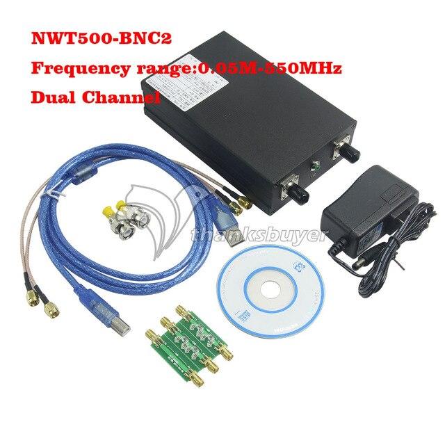 Barrido de Frecuencia Medidor De Frecuencia de Amplitud NWT500-BNC2 Analizador Dual Channel 50 K a 550 M Interfaz USB