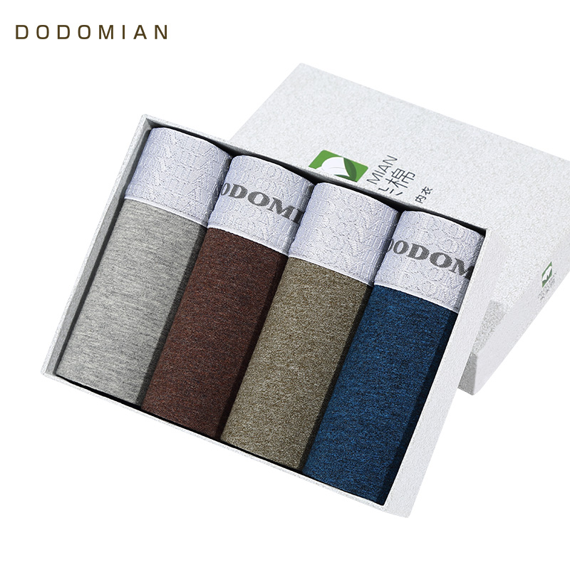 Luxury Male Panties Wide Waistband Boxer Nature Cotton Men Underwear Plus Size Cueca Boxer Shorts Homme 4pcs/lot