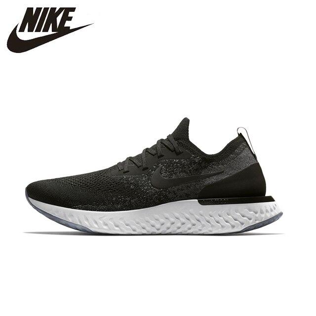 c1503da5572b Nike Epik Bereaksi FLYKNIT Asli Sepatu Lari Penawaran Terbatas Alas Kaki  Super Ringan untuk Olahraga Pria