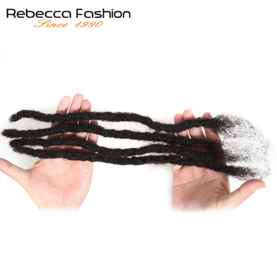 Rebecca Remy Afro Kinky Krullend Dreadlocks Gehaakte Vlechten 100% Menselijk Haar Jumbo Dread Kapsel Hand Gemaakt Dreadlocks Vlechten Haar