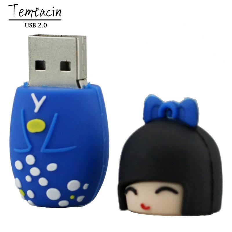 Leuke U Disk Japanse Poppen Kimono Meisje USB Flash Pen Drive 4G 8G - Externe opslag - Foto 2