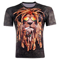 2017 Men Fashion 3D Animal Creative t-Shirt, Lightning/smoke lion/lizard/water droplets 3d printed short sleeve T Shirt M-4XL g