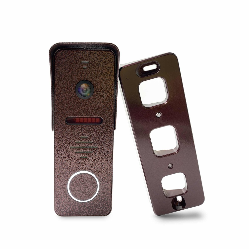 Dragonsview 7 inch Video Door Phone Intercom System Record Motion Detection Wide Angle Doorbell with Camera Waterproof Cover - 4