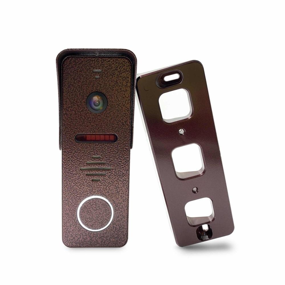 Dragonsview 7 pulgadas Video puerta teléfono intercomunicador sistema registro detección de movimiento gran angular timbre con cámara cubierta impermeable - 4