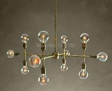 12 heads chandelier for living room hotel hall museum modern pendant lamp bronze color unique design suspension lighting