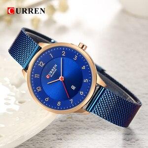 Image 3 - Curren 9035B Fashion womens watches Stainless Steel Gold watch women Curren Hot Selling Ladies Watch Quartz women watches