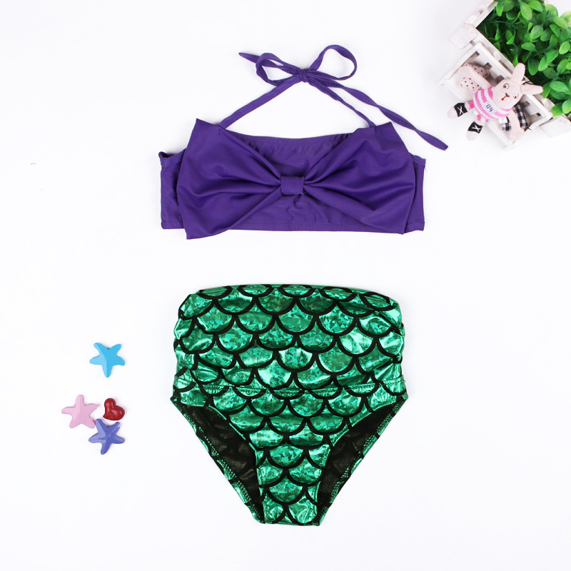 4860e6b0d8449 Mother Daughter Swimwear Mermaid Mom and Daughter Swimsuits Mommy and Me  Bikini Family Matching Clothes Family Look Outfits -in Matching Family  Outfits from ...
