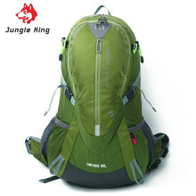 Jungle King 2017 new hiking nylon tear waterproof professional mountaineering bag 40L outdoor sports backpack +Rain cover 1.3kg