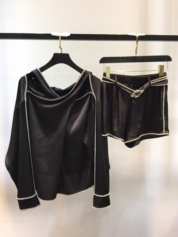 Chemisier Soie 2019 06 Ddxgz3 D'été Shorts Couleur Blouse 2 Diamants Hors Femmes 3 Épaule Costumes 8AHqIAwg