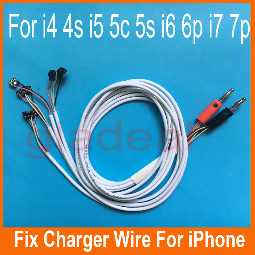 Smart Phone Repair Tool Power Charger Line Wire Cable For iPhone 4 4s 5 5s 6 6 Plus 7 7 Plus multifunctional dc voltage regulator stabilizer cable wire power supply interface cable line mobile phone repair tools usb
