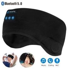 JINSERTA Bluetooth 5,0 беспроводные стерео наушники, Спортивная головная повязка, мягкие наушники, маска для сна, музыкальная гарнитура 2020
