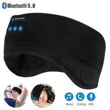 Jinserta Bluetooth 5.0 Không Dây Tai Nghe Stereo Băng Buộc Đầu Thể Thao Ngủ Mềm Tai Nghe Nhét Tai Ngủ Mặt Nạ Mắt Tai Nghe Nhạc 2020