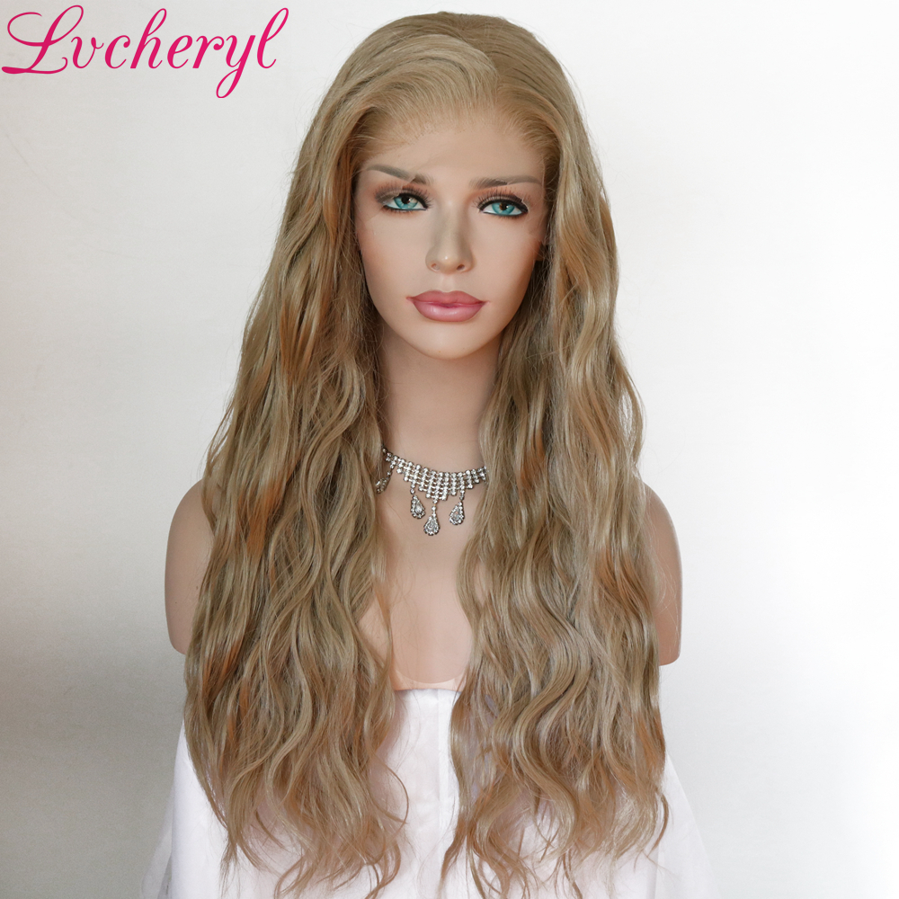 Image 2 - Lvcheryl Synthetic Lace Front Wig Natural Wave Red Color 13x6 Synthetic Lace Front Wig Futura Hair Lace Wigs For Women-in Synthetic Lace Wigs from Hair Extensions & Wigs