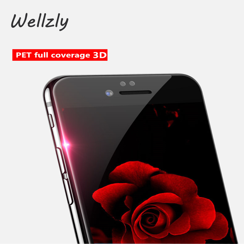 Wellzly Tempered Glass For iPhone7 Tempered Glass Full Coverage 3D Explosion-Proof Glass For iphone7plus Screen Protector B26