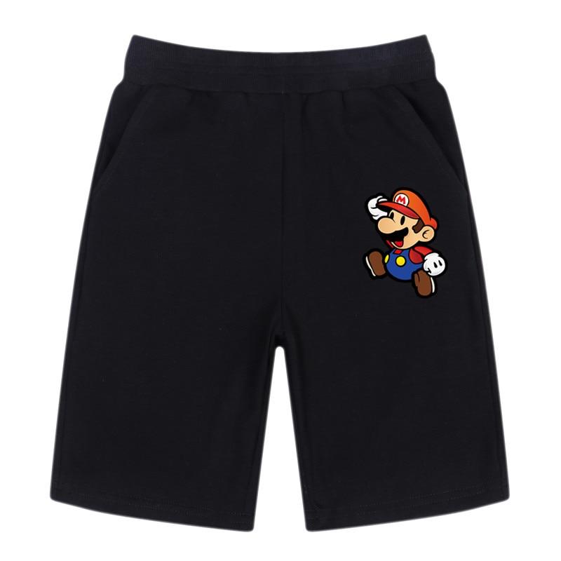 Summer Toddler Casual Baby Shorts Kids Boy Loose Short Pants Infant Super Mario Cotton Elastic Waist Short Trousers 3